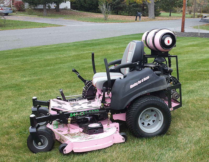 Santini S Lawn Care Paints Propane Mower Pink Landscape