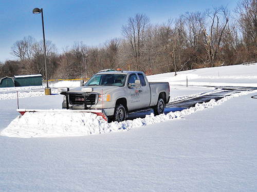 As the company grows, maintenance services, like snow, will expand. Photo: Exscape Designs