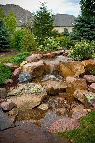 Au naturel Water features are trending toward natural looks that incorporate indigenous elements.
