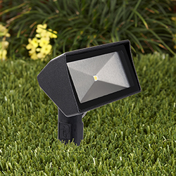 Constructed of die-cast copper-free aluminum Vistau0027s compact low-voltage 5106 floodlight fixture is available in 15 standard polyester-powder-coat ... & Vista Professional Outdoor Lighting : Landscape Management