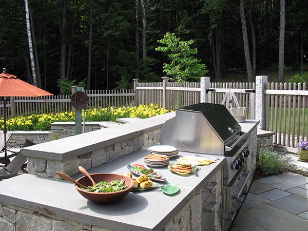 After shot of outdoor kitchen