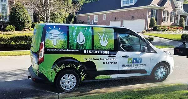 Blake Shelton Landscaping van